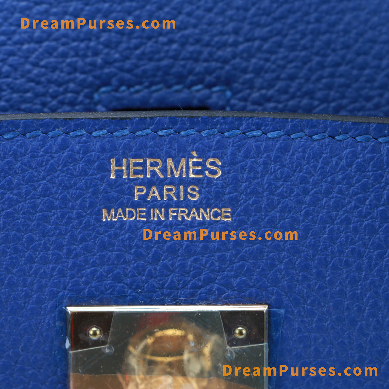 Identical Hermes logo stamp on the front