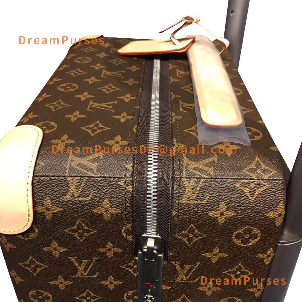 Perfect zipper on Louis Vuitton Horizon 55 Knock off