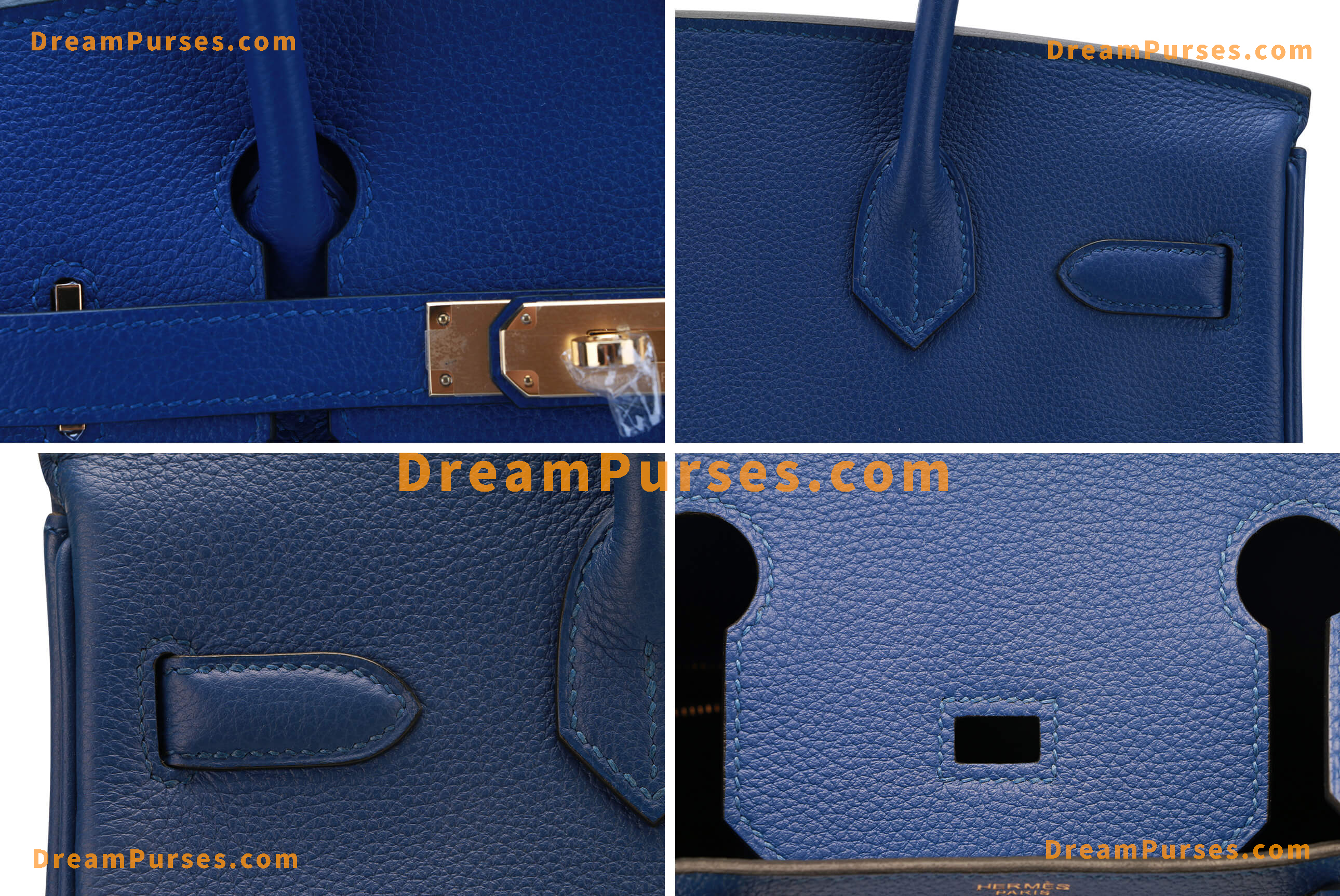 Togo leather from the same TANNERY as real Hermes Birkin uses