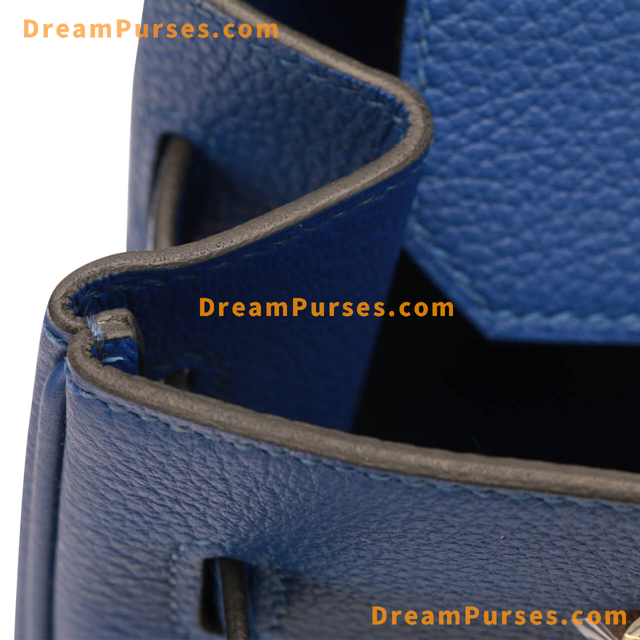 even tiny details on this hermes birkin super fake are identical to the real birkin 2
