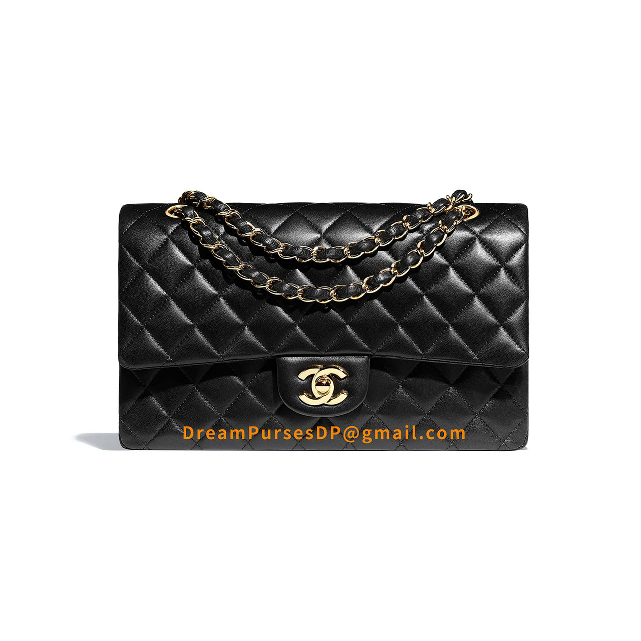 Chanel Medium Classic Flap Bag Black Lambskin GHW