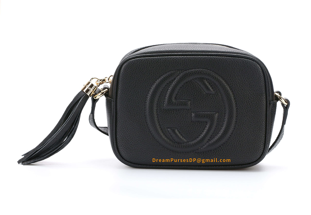 Gucci Soho Small Leather Disco Bag Black 308364