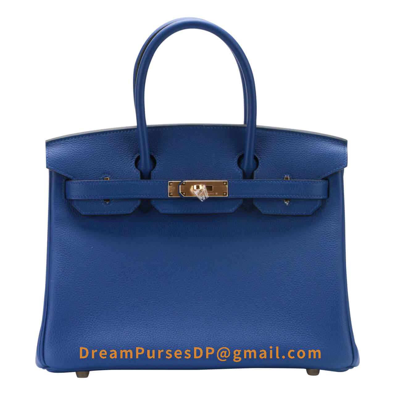 Hermes Birkin 30 Bag 7t Blue Electric Togo Calfskin GHW