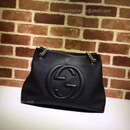 Gucci Replica Soho Leather Shoulder Bag Black