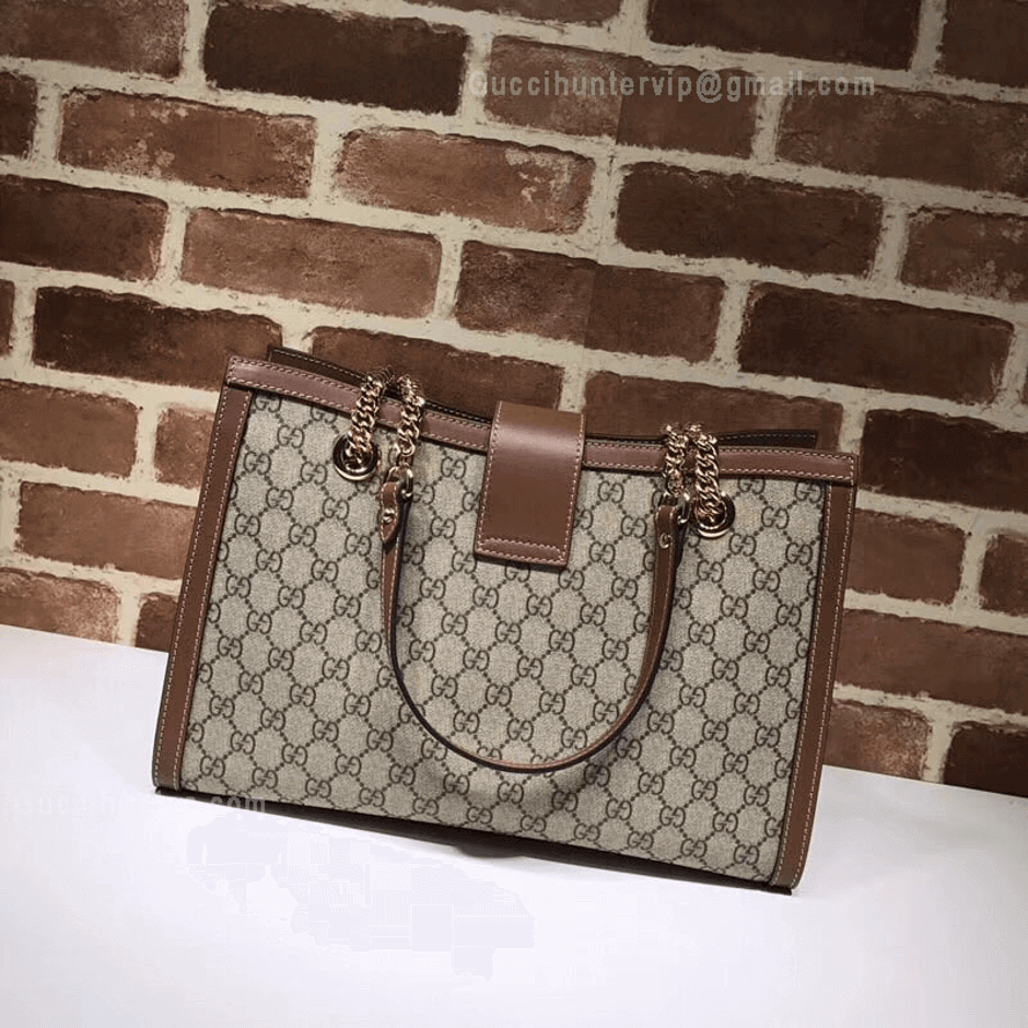 Gucci Padlock replica Brown GG Medium Shoulder Bag Front view