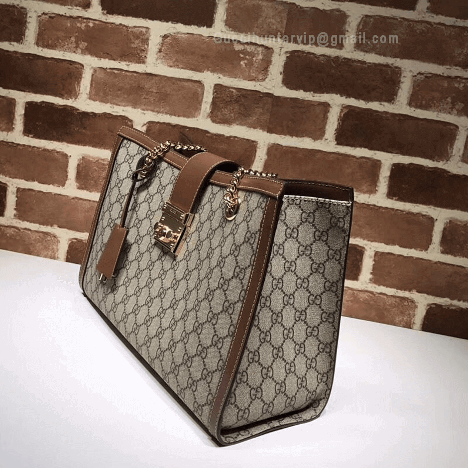 Gucci Padlock GG Medium Shoulder Bag Brown