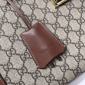 Gucci Padlock replica Brown GG Medium Shoulder Bag key