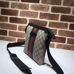 Gucci Web GG Supreme Flat Messenger Replica side