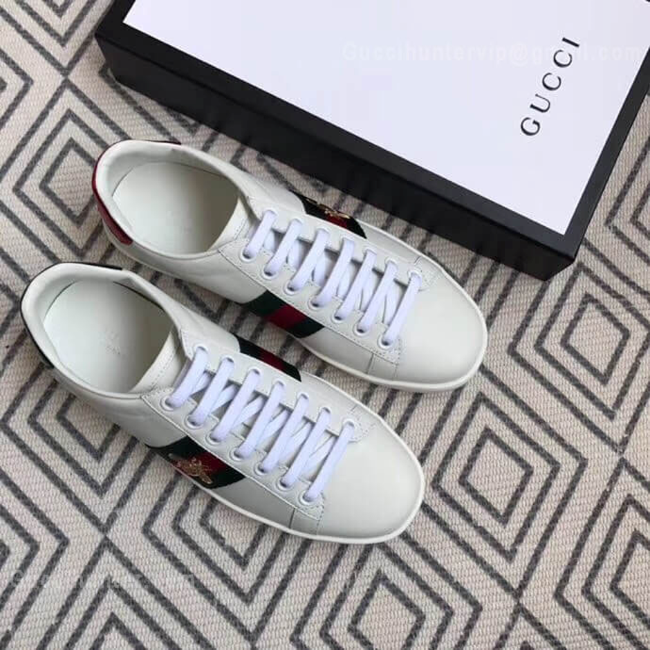 Gucci Ace Replica Embroidered Sneakers White full pic from Customer