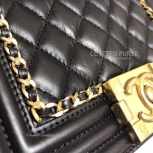 Chanel boy bag replica stitch